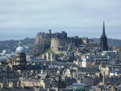Edinburgh Castle seen from Salisbury Crags