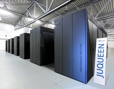 The JUQUEEN supercomputer.
